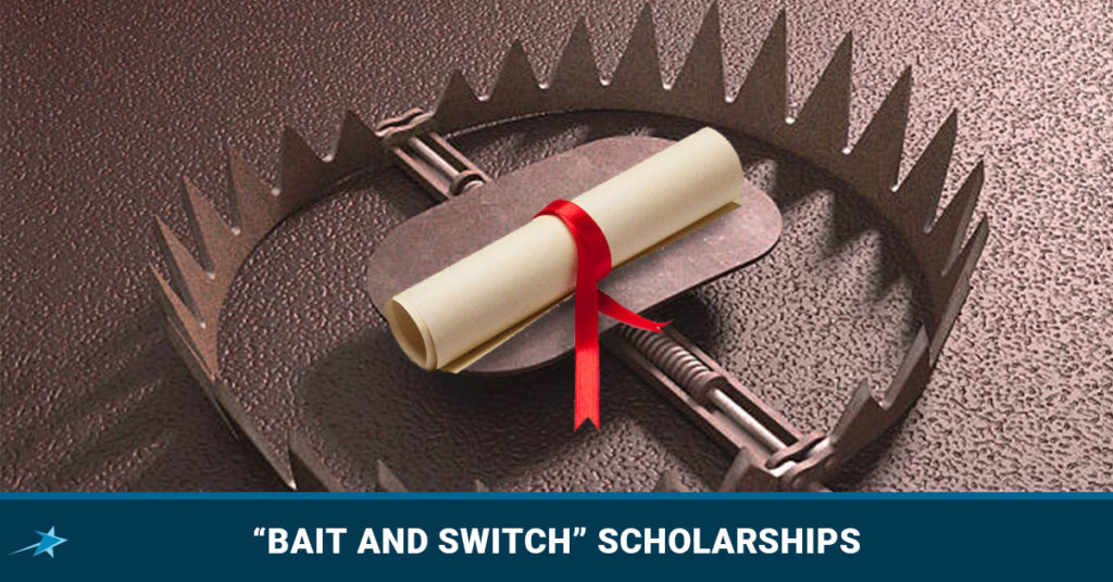 "Bait And Switch"" Scholarships - Dream Degree"